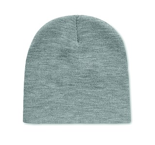 Pletená čepice z RPET, bílo šedá