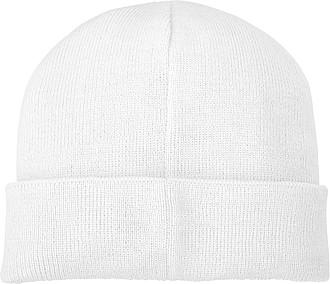 Akrylová čepice Boreas protáhlého tvaru (beanie), bílá