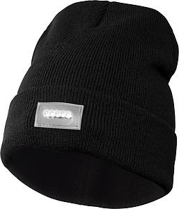 Čepice s LED čelovkou , černá