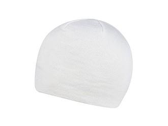 DAMON Tenká zimní čepice bez podšívky, bílá - reklamní čepice