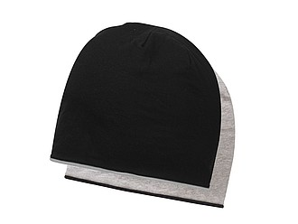 ANOMANDER Oboustranná hladká zimní čepice, černá/šedá - reklamní čepice