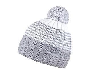 MILONA Dvoubarevná zimní čepice, světle šedá