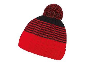 MILONA Dvoubarevná zimní čepice, černá/červená - reklamní čepice