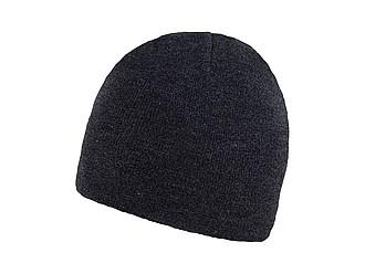 RIETA Univerzální dvojitě pletená zimní čepice, černá - reklamní čepice