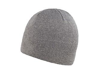 RIETA Univerzální dvojitě pletená zimní čepice, šedá