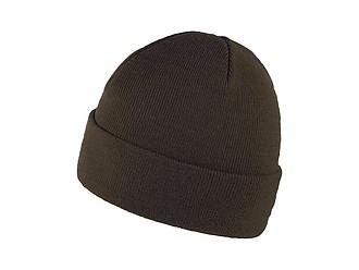 ZOBAR Dvojitě pletená zimní čepice, unisex, armádní zelená