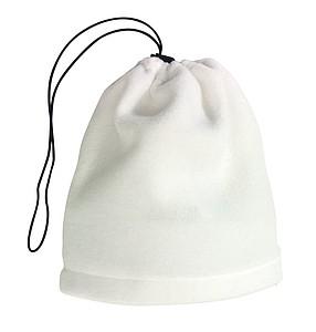 Fleecová šála nebo čepice, bílá