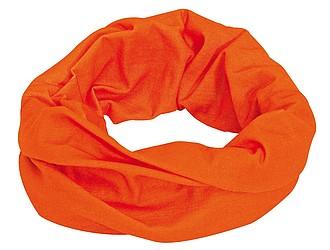 CEMILE Multifunkční šátek, oranžový - reklamní čepice
