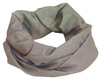CEMILE Multifunkční šátek, šedý - reklamní čepice