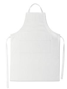 Nastavitelná kuchyňská zástěra, bílá