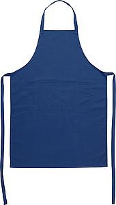 BOSKY Kuchařská zástěra s přední kapsou, modrá