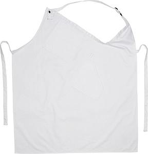 Kuchyňská asymetrická zástěra, bílá