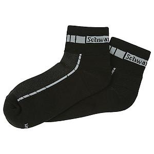 SCHWARZWOLF BIKE ponožky, černá, velikost 39-41 – reklamní peněženka s potiskem
