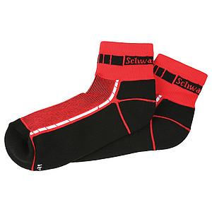 SCHWARZWOLF BIKE ponožky, červená, velikost 39-41