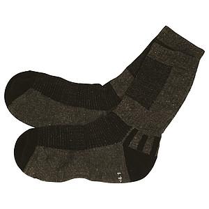 SCHWARZWOLF TREKING ponožky, šedá, velikost 36-38 – reklamní peněženka s potiskem
