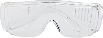 RIKO Průhledné bezpečnostní pracovní brýle - reklamní čepice