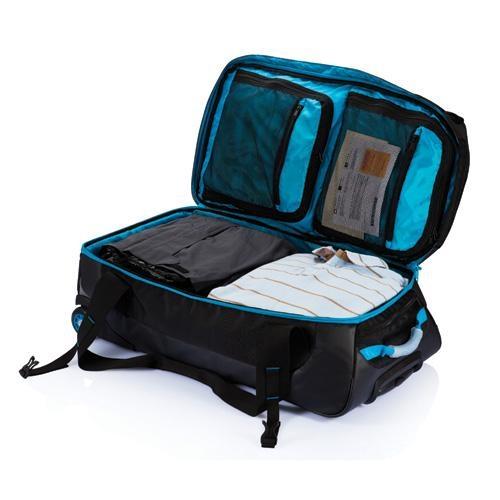 d17579de2cf ... modrá Velká cestovní taška na kolečkách