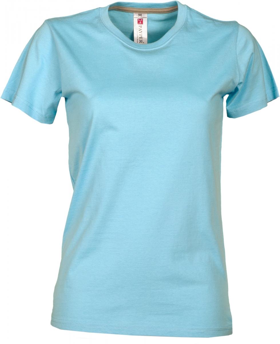 Dámské tričko PAYPER SUNRISE LADY světle modrá L - reklamní trička f5b2f05766