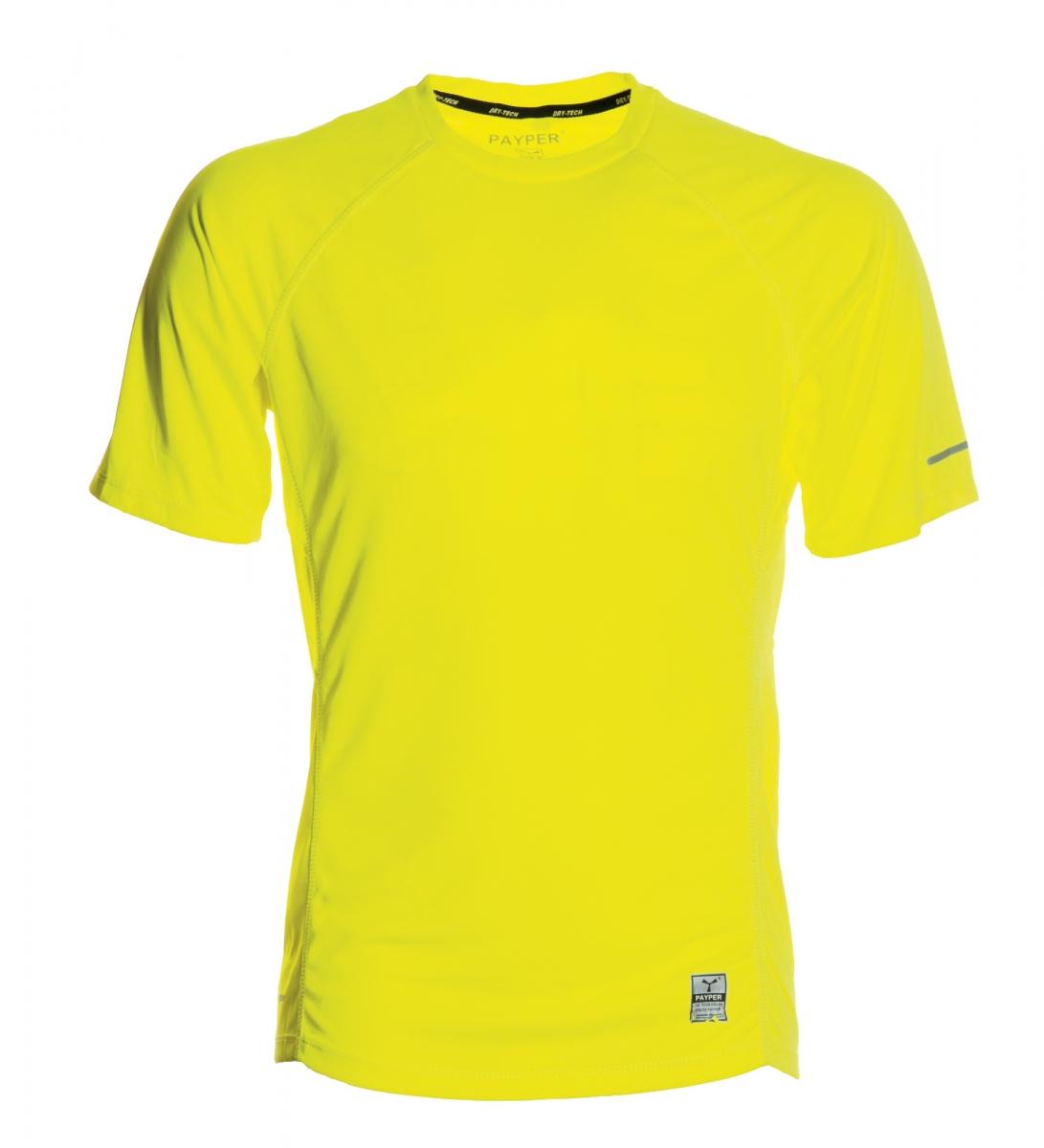 Funkční tričko PAYPER RUNNING fluorescenční žlutá XXXL - reklamní trička e0b7a0e947