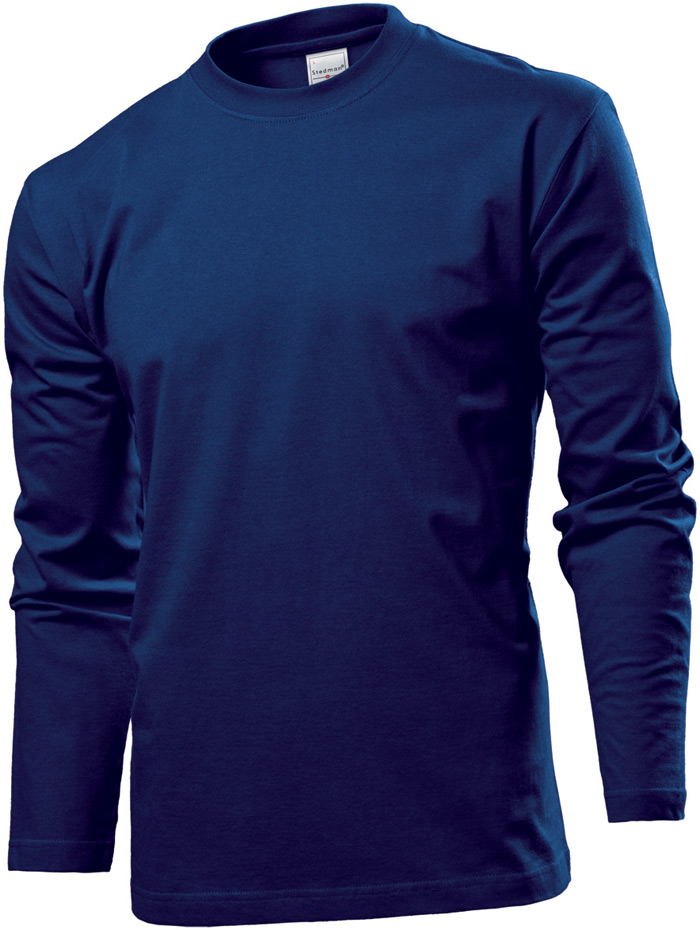 Tričko STEDMAN COMFORT LONG SLEEVE MEN námořní modrá XXL - reklamní trička 11b7ac8dc8