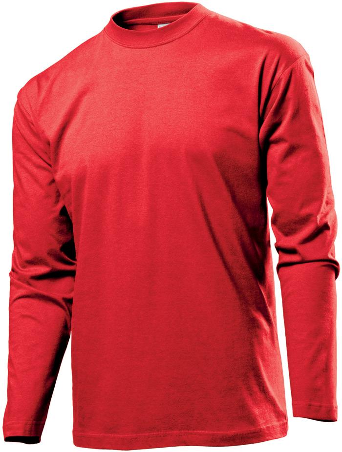 Tričko STEDMAN CLASSIC LONG SLEEVE MEN červená S - reklamní trička a79cbf0205
