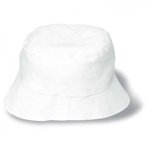 325d6856130 Plážový klobouk bavlněný bílý - reklamní čepice