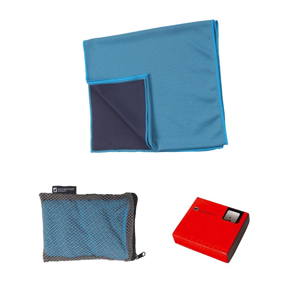 SCHWARZWOLF LANAO outdoorový ručník modrý 30x100 cm  cebb85f8fcc