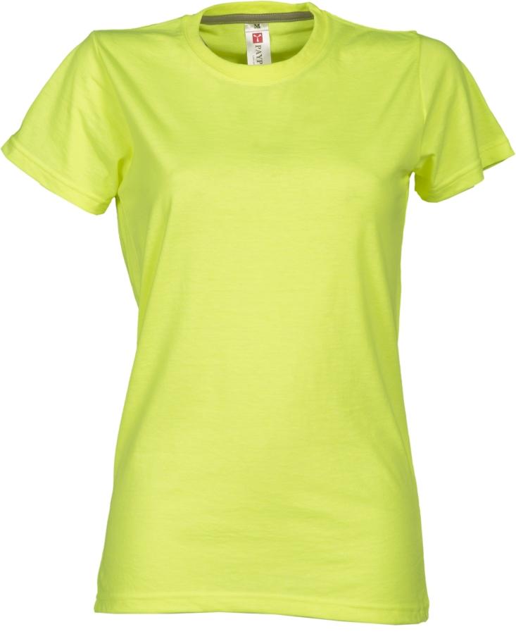 Tričko PAYPER SUNSET LADY reflexní žlutá S - reklamní trička 299851f0e5