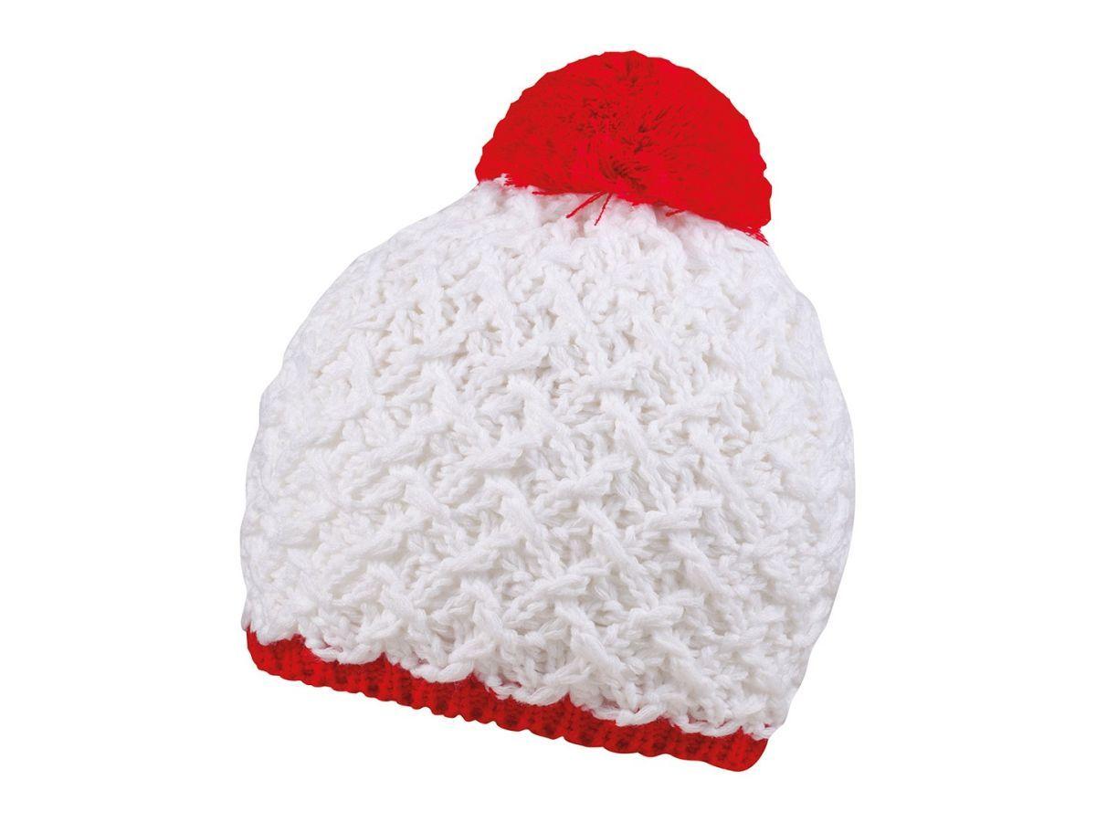 Pletená zimní čepice s výrazným vzorem 3c7d3a1532
