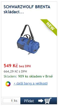 Schwarzwolf Brenta skládací taška/batoh - reklamní předměty Liberec
