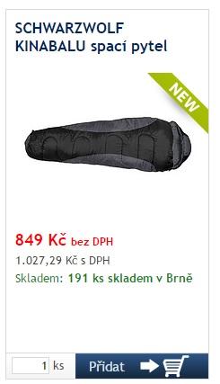 Schwarzwolf Kinabalu spací pytel - reklamní předměty Liberec