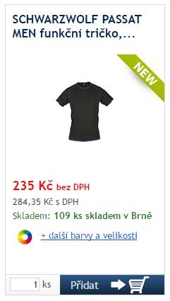 SCHWARZWOLF PASSAT MEN funkční tričko - reklamní předměty Liberec