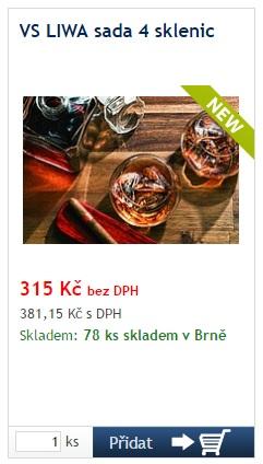 VS LIWA sada 4 sklenic - reklamní předměty Liberec
